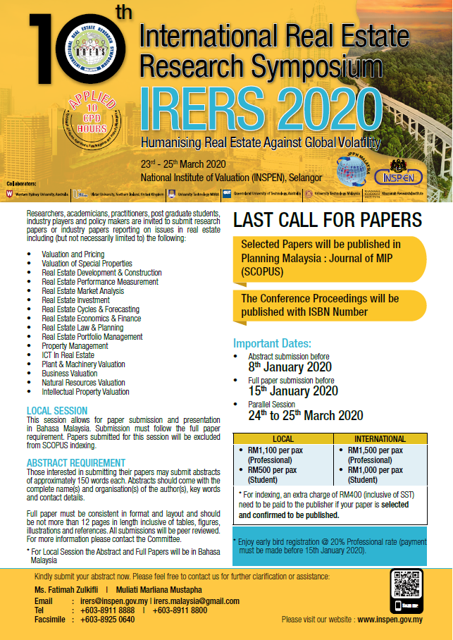 Last Call For Papers 070120